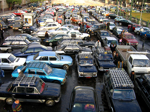 Cairo traffic lanes