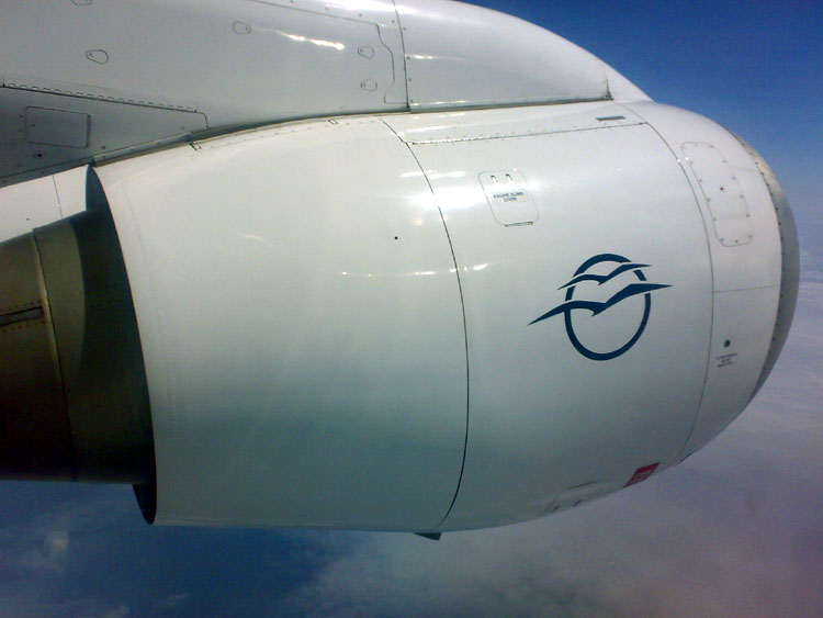 Aegean Airlines Avro RJ100 Honeywell engine