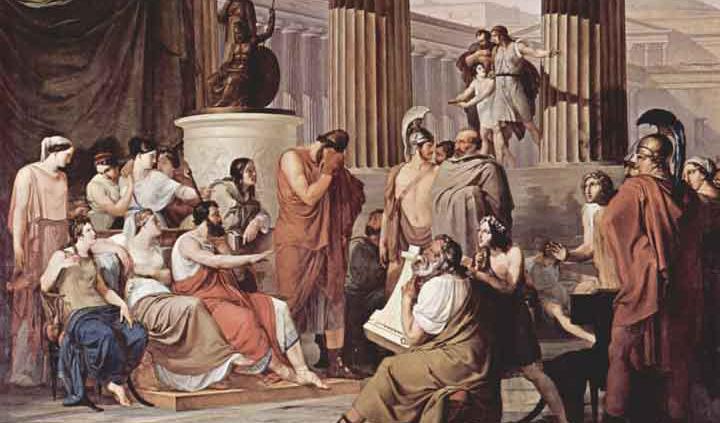 Ο Οδυσσέας στην αυλή του Βασιλιά των Φαιάκων Αλκίνοου
