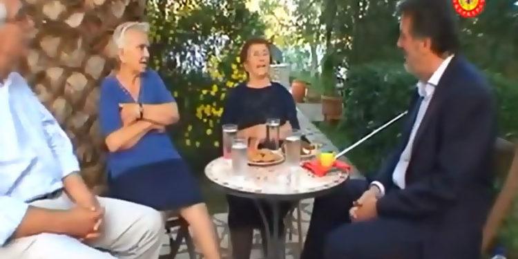 Στη φωτό η Φρ. Ροή, μέσα από βίντεο του Σπ. Σκορδίλη