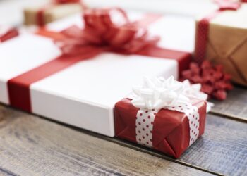 Close up of colorful presents