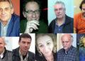 Στην πάνω σειρά από αριστερά: Κ. Παυλίδης, Χρ. Μωραΐτης, Γ. Κρητικός, Φ. Κακαβίτσας. Στην κάτω σειρά, Σπ. Βάρελης, Κ. Γκούσης, Τζ. Τσέλιου, Φ. Βλάχος, Σπ. Παγκράτης